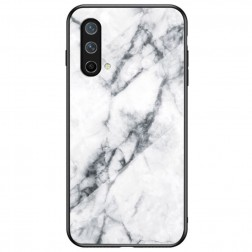 """""""Marble"""" kieto silikono (TPU) dėklas - baltas (OnePlus Nord CE)"""