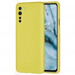 """""""Shell"""" kieto silikono (TPU) dėklas - geltonas (OnePlus Nord)"""