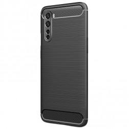 """""""Carbon"""" kieto silikono (TPU) dėklas - juodas (OnePlus Nord)"""