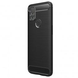 """""""Carbon"""" kieto silikono (TPU) dėklas - juodas (OnePlus Nord N10 5G)"""