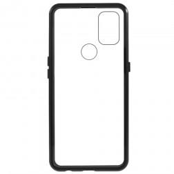 """""""Frame"""" magnetinis pilnai dengiantis dėklas - skaidrus (OnePlus Nord N10 5G)"""