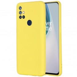 """""""Shell"""" kieto silikono (TPU) dėklas - geltonas (OnePlus Nord N10 5G)"""