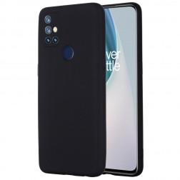 """""""Shell"""" kieto silikono (TPU) dėklas - juodas (OnePlus Nord N10 5G)"""