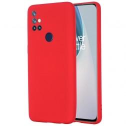 """""""Shell"""" kieto silikono (TPU) dėklas - raudonas (OnePlus Nord N10 5G)"""