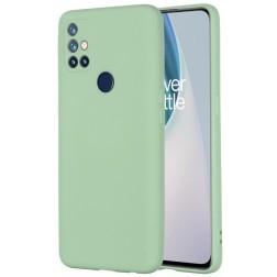 """""""Shell"""" kieto silikono (TPU) dėklas - žalias (OnePlus Nord N10 5G)"""