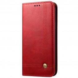 """""""Deluxe"""" atverčiamas dėklas - raudonas (OnePlus Nord N100)"""