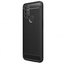 """""""Carbon"""" kieto silikono (TPU) dėklas - juodas (OnePlus Nord N100)"""