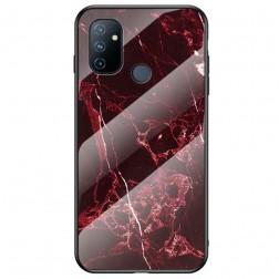 """""""Marble"""" kieto silikono (TPU) dėklas - raudonas (OnePlus Nord N100)"""