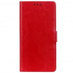 Atverčiamas dėklas, knygutė - raudonas (OnePlus Nord N100)