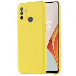 """""""Shell"""" kieto silikono (TPU) dėklas - geltonas (OnePlus Nord N100)"""