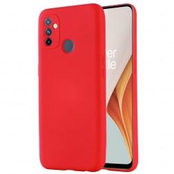 """""""Shell"""" kieto silikono (TPU) dėklas - raudonas (OnePlus Nord N100)"""