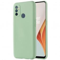 """""""Shell"""" kieto silikono (TPU) dėklas - žalias (OnePlus Nord N100)"""