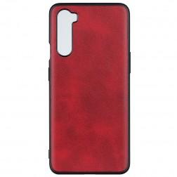 Slim Leather dėklas - raudonas (OnePlus Nord)