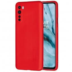 """""""Shell"""" kieto silikono (TPU) dėklas - raudonas (OnePlus Nord)"""