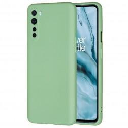 """""""Shell"""" kieto silikono (TPU) dėklas - žalias (OnePlus Nord)"""