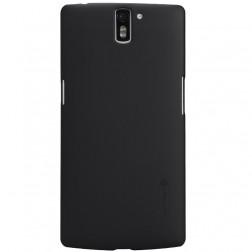 """""""Nillkin"""" Frosted Shield dėklas - juodas + apsauginė ekrano plėvelė (OnePlus One)"""