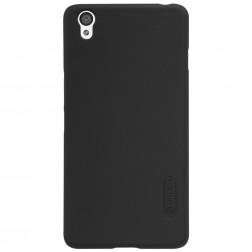 """""""Nillkin"""" Frosted Shield dėklas - juodas + apsauginė ekrano plėvelė (OnePlus X)"""
