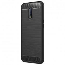 """""""Carbon"""" kieto silikono (TPU) dėklas - juodas (OnePlus 7)"""