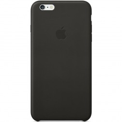 "Oficialus ""Apple"" Leather Case odinis dėklas - juodas (iPhone 6 Plus / iPhone 6s Plus)"