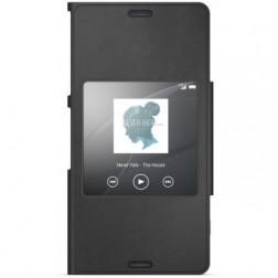 """""""Sony"""" Style Cover Window atverčiamas dėklas - juodas (Xperia Z3 Compact)"""