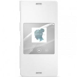 """""""Sony"""" Style Cover Window atverčiamas dėklas - baltas (Xperia Z3)"""