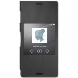"""""""Sony"""" Style Cover Window atverčiamas dėklas - juodas (Xperia Z3)"""