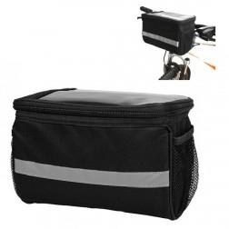 """""""Reflective"""" dėklas - dviračio krepšys - juodas (XL)"""