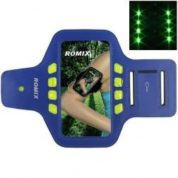 """""""Romix"""" Led dėklas sportui (raištis ant rankos) - tamsiai mėlynas (L dydis)"""