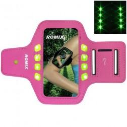 """""""Romix"""" Led dėklas sportui (raištis ant rankos) - rožinis (L dydis)"""