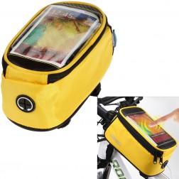"""""""Roswheel"""" dėklas - dviračio krepšys - geltonas (XL)"""