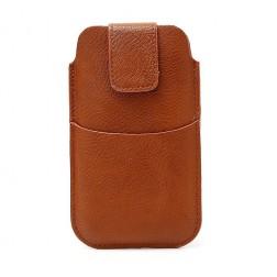 Telefono įmautė su kišenėle - ruda (L dydis)