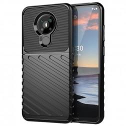 """""""Rumble"""" kieto silikono (TPU) dėklas - juodas (Nokia 5.3)"""