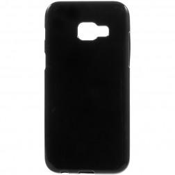 Kieto silikono (TPU) dėklas - juodas (Galaxy A3 2017)