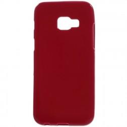 Kieto silikono (TPU) dėklas - raudonas (Galaxy A3 2017)