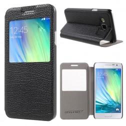 """Atverčiamas """"Smart Window"""" dėklas - juodas (Galaxy A3)"""