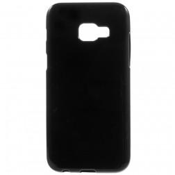Kieto silikono (TPU) dėklas - juodas (Galaxy A5 2017)