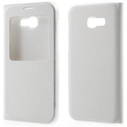 Atverčiamas dėklas su langeliu - baltas (Galaxy A5 2017)