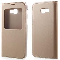 Atverčiamas dėklas su langeliu - auksinis (Galaxy A5 2017)
