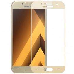 """""""Calans"""" Tempered Glass pilnai dengiantis apsauginis ekrano stiklas 0.2 mm - auksinis (Galaxy A7 2017)"""