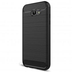 """""""Carbon"""" kieto silikono (TPU) dėklas - juodas (Galaxy A7 2017)"""