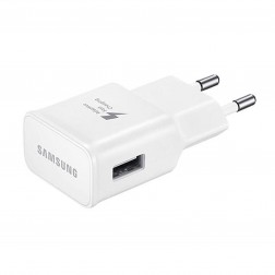 """Samsung"" Adaptive Fast Charging sieninis įkroviklis - baltas (2000 mA / 1670mA) + micro USB laidas (1,5 m.)"
