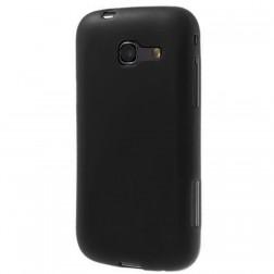Kieto silikono dėklas - juodas, matinis (Galaxy Trend Lite)