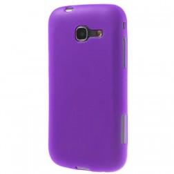Kieto silikono dėklas - violetinis, matinis (Galaxy Trend Lite)