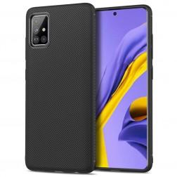 """""""Lenuo"""" kieto silikono (TPU) dėklas - juodas (Galaxy A51)"""