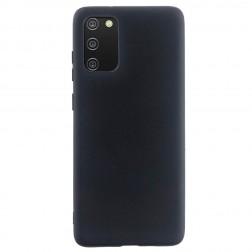 """""""Shell"""" kieto silikono (TPU) dėklas - juodas (Galaxy A02s)"""