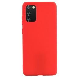 """""""Shell"""" kieto silikono (TPU) dėklas - raudonas (Galaxy A02s)"""