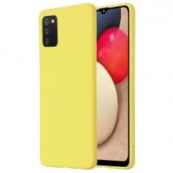 """""""Shell"""" kieto silikono (TPU) dėklas - geltonas (Galaxy M02s)"""