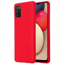"""""""Shell"""" kieto silikono (TPU) dėklas - raudonas (Galaxy M02s)"""
