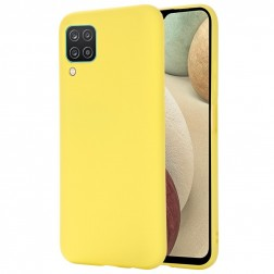 """""""Shell"""" kieto silikono (TPU) dėklas - geltonas (Galaxy A12)"""