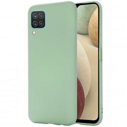 """""""Shell"""" kieto silikono (TPU) dėklas - žalias (Galaxy A12)"""